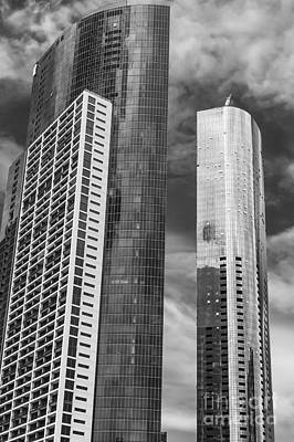 Melbourne Towers 2 Print by Bob Phillips