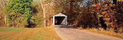 Indiana Photograph - Melcher Covered Bridge Parke Co In Usa by Panoramic Images