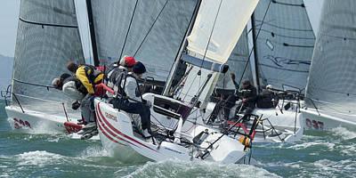 Water Skippers Photograph - Melges Bay Regatta by Steven Lapkin