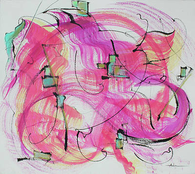 Melody In Magenta   Insight Comes Print by Asha Carolyn Young