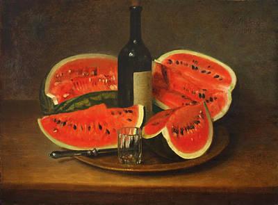 Melon Platter Print by Mountain Dreams