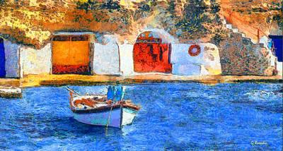 Bridge Painting - Melos by George Rossidis