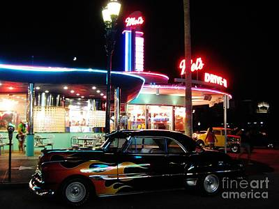 Mels Drive-in Painting - Mels Diner Number Three by John Malone