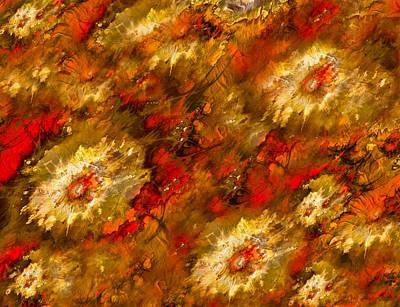 Ptints Digital Art - Melting Flowers by Connie Dye