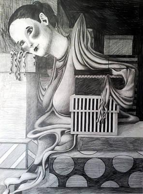 Melting Girl Print by Ava Dahm