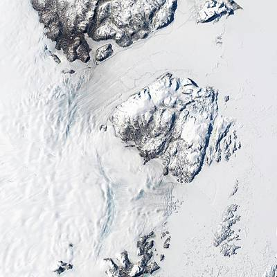 Melting Greenland Glaciers Print by Nasa/usgs