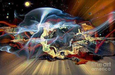 Other Worlds Digital Art - Melting World II by David Neace
