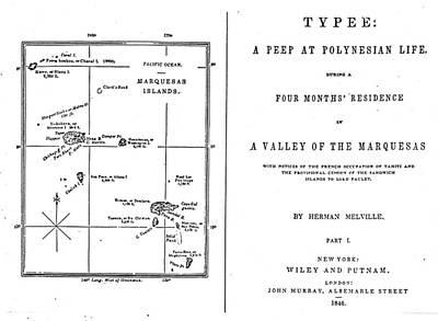 Novel Painting - Melville Typee, 1846 by Granger