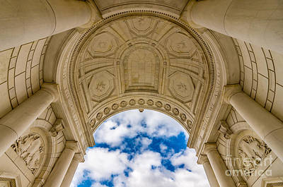 Marble Tomb-stones Photograph - Memorial Amphitheater Arlington National Cemetery by Gary Whitton