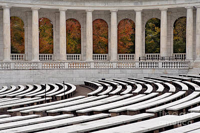 Memorial Amphitheater Print by Jerry Fornarotto