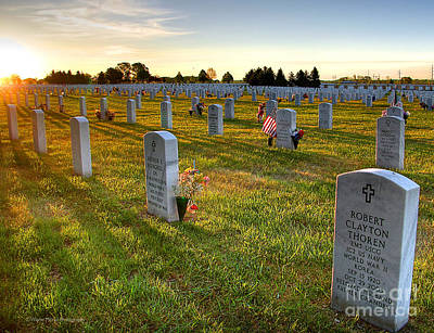 Memorial Day Fort Snelling National Cemetery Print by Wayne Moran