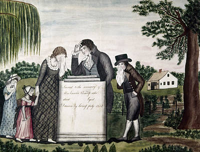 Crying Painting - Memorial To Herself, 1816 by Granger