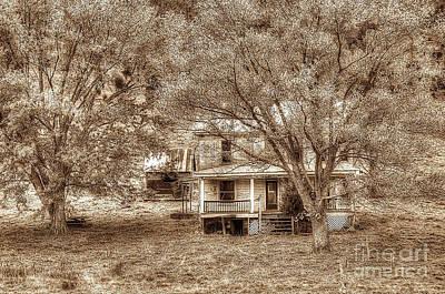 Memories Behind The Trees Print by Dan Friend