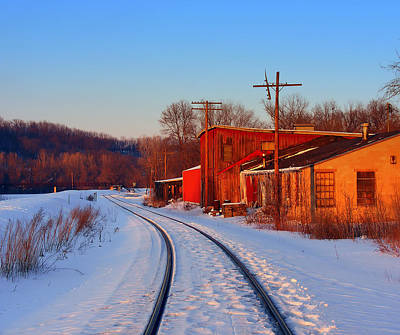 Photograph - Tracks In The Snow by Dan  Dickerson