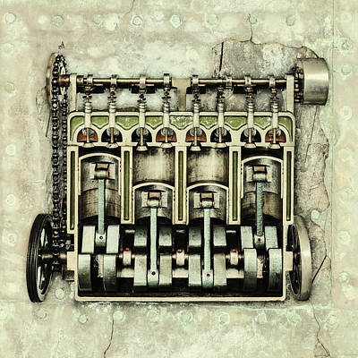 Memories Of A Classic Car I Print by Martin Bergsma