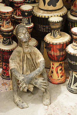 Woodcarving Photograph - Memories Of Ghana by Michele Burgess