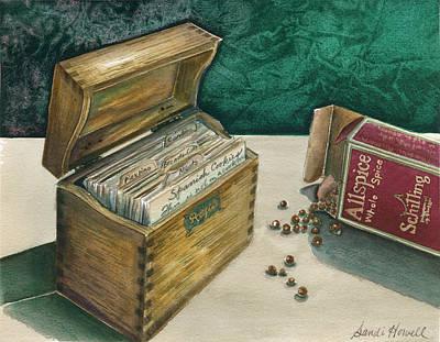Memories Of Grandma Print by Sandi Howell