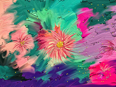 Artrage Painting - Memories Of Summer  by Angela A Stanton