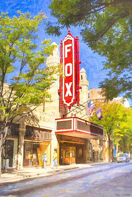 Vintage Signs Photograph - Memories Of The Fox Theatre by Mark E Tisdale