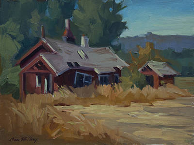 Old Cabins Painting - Memories Of The Past by Diane McClary