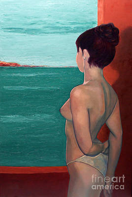 Outdoor Nude Painting - Memory Bay by EricA Art