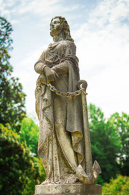 Memphis Elmwood Cemetery Monument - Woman With Chain Print by Jon Woodhams