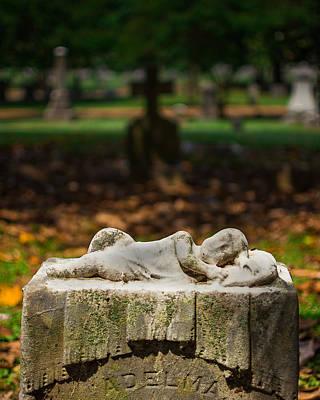 Tomb Photograph - Memphis Elmwood Cemetery Monument - Adelma by Jon Woodhams