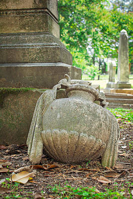 Cemetary Photograph - Memphis Elmwood Cemetery Monument - Fallen by Jon Woodhams