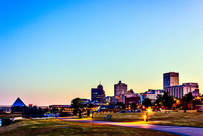 Dawn Photograph - Memphis Morning - Bluff City - Tennessee by Barry Jones