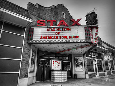 History Of Tennessee Photograph - Memphis - Stax Records 001 Ck by Lance Vaughn
