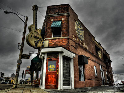 B Photograph - Memphis - Sun Studio 002 by Lance Vaughn