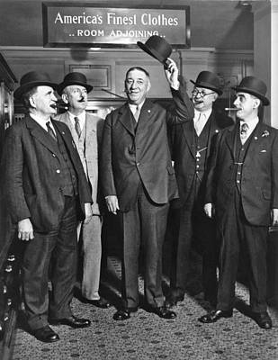 Full-length Portrait Photograph - Men, Hats, And Cigars by Underwood Archives