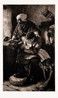 Must Art Drawing - Men Must Work, And Women Must Weep, Though Storms Be Sudden by Litz Collection