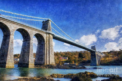 Menai Susupension Bridge Print by Ian Mitchell