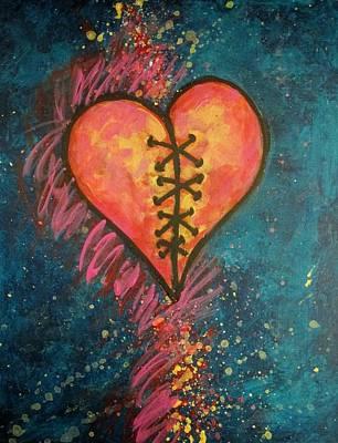 Mended Broken Heart Original by Carol Suzanne Niebuhr