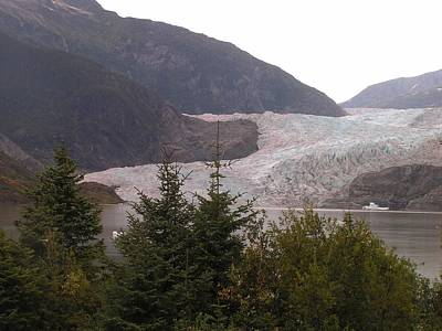 Mendenhall Glacier From The Path. Print by Annika Farmer
