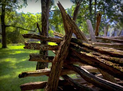 Split Rail Fence Photograph - Mending Fences by Karen Wiles