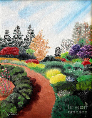 Mendocino Painting - Mendocino Botanical Gardens by Laura Iverson
