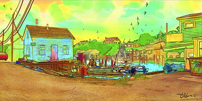 Painting - Menemsha Harbor by Gerry Robins