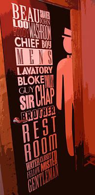 Washrooms Digital Art - Mens Room by Patricia Januszkiewicz