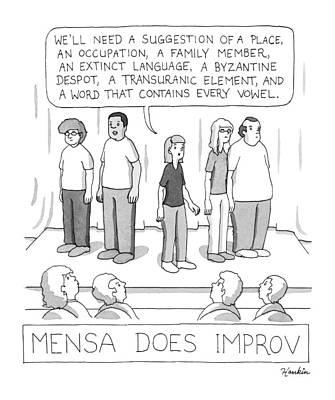 Mensa Does Improv Print by Charlie Hankin