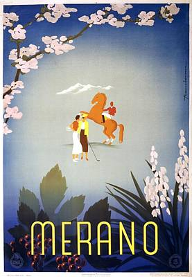 Advertisment Painting - Merano Travel Poster For Enit Cca 1920 by WPA poster