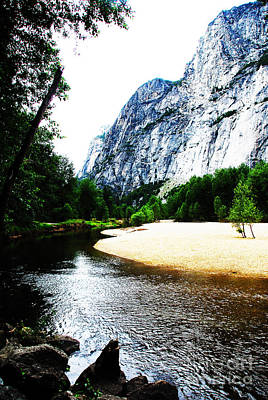 Merced River In Yosemite National Park  Print by Laraine  C Photography