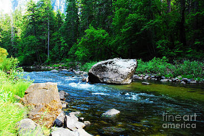 Merced River - Yosemite National Park Print by Laraine C Photography