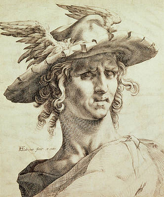 Trade Drawing - Mercury by Hendrik Goltzius