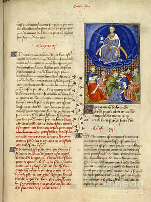 Gods And Goddesses Photograph - Mercury Inspires Eloquence by British Library