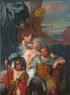 Calypso Painting - Mercury Ordering Calypso To Release Odysseus by Gerard de Lairesse