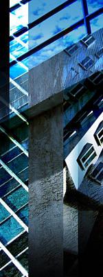 Merging Digital Art - Merged - Tower Blues by Jon Berry