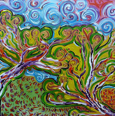 Merging In The Trees Print by Gioia Albano