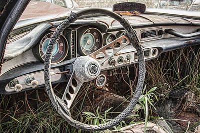 Wrecked Cars Photograph - Merging With Nature by Dale Kincaid